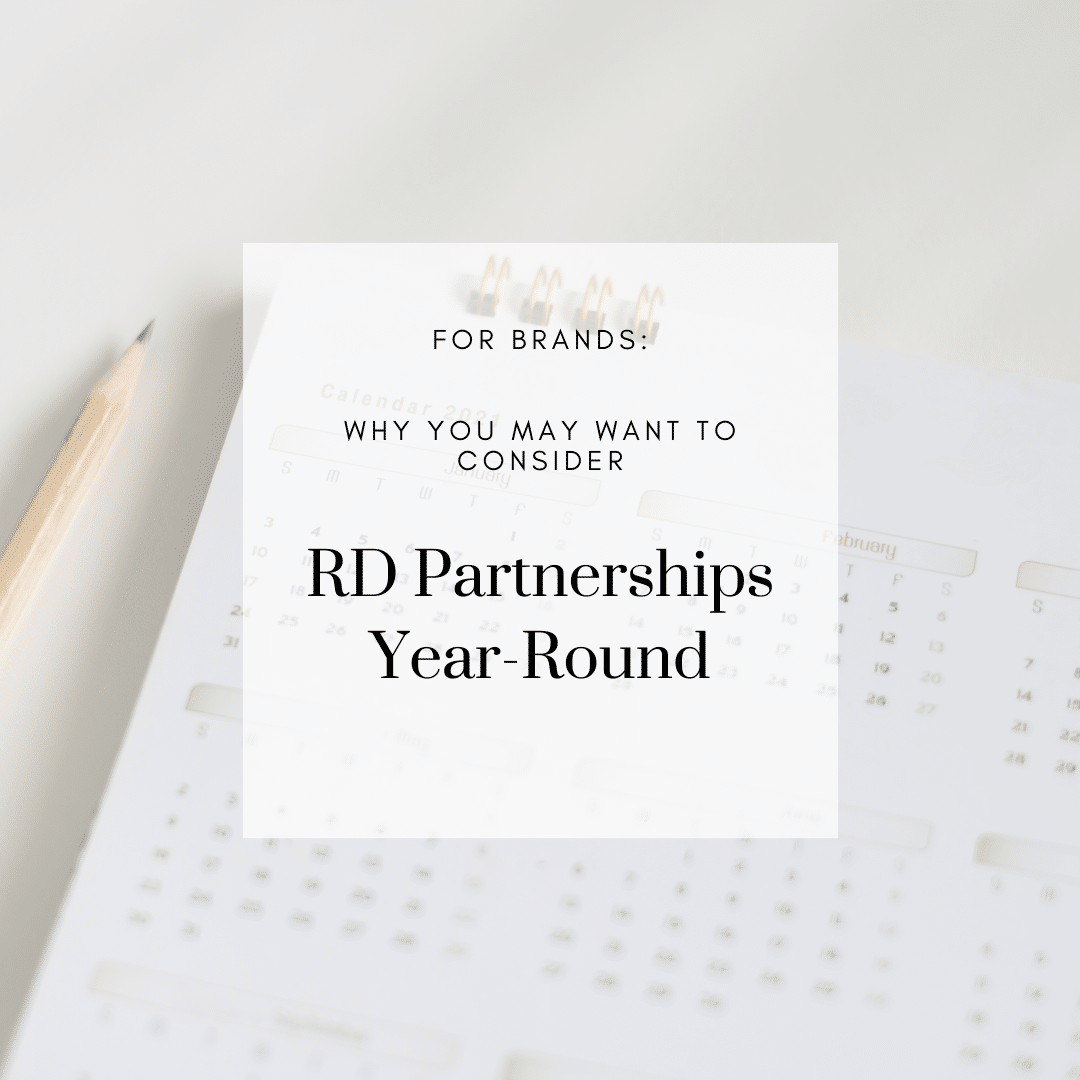 Brands: Why you may want to consider RD partnerships year-round…