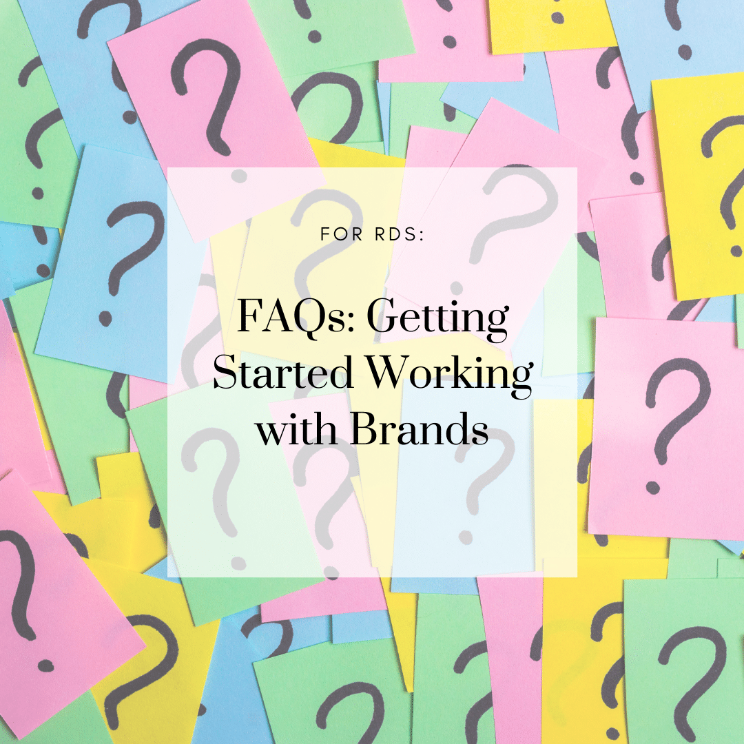 Our Community's Most FAQs on Getting Started working with Brands