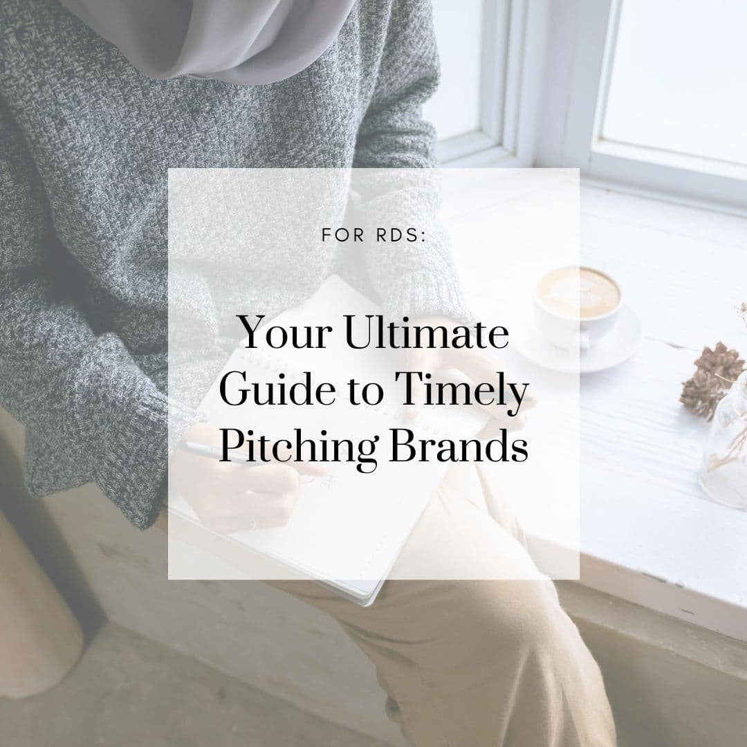For RDs: Your Ultimate Guide to Timely Pitches