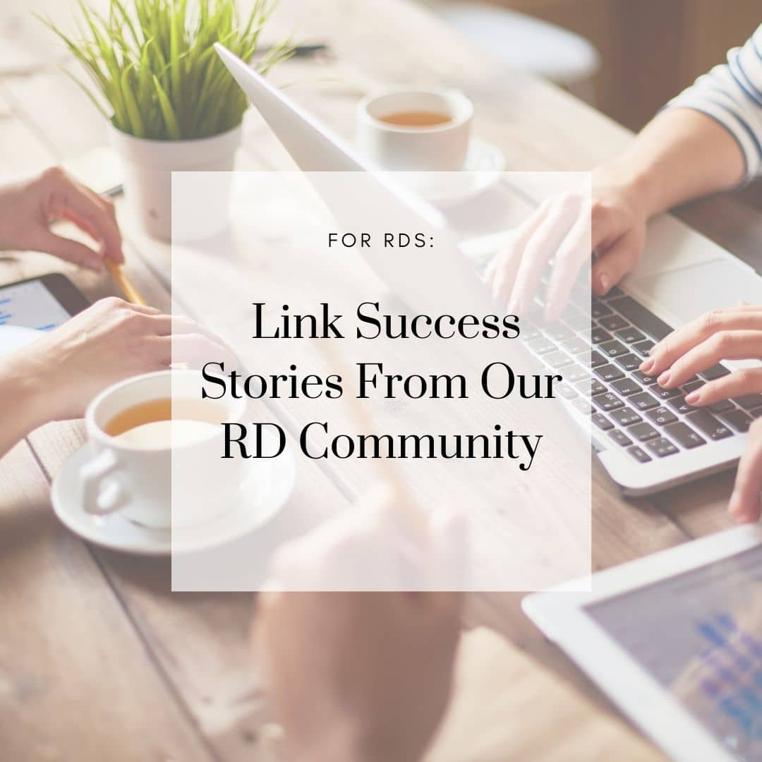 Link Success Stories From Our RD Community